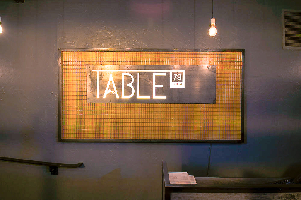 Table 79 Foodbar in Steamboat Signage